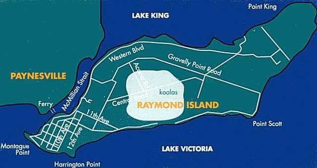 Where is raymond island victoria
